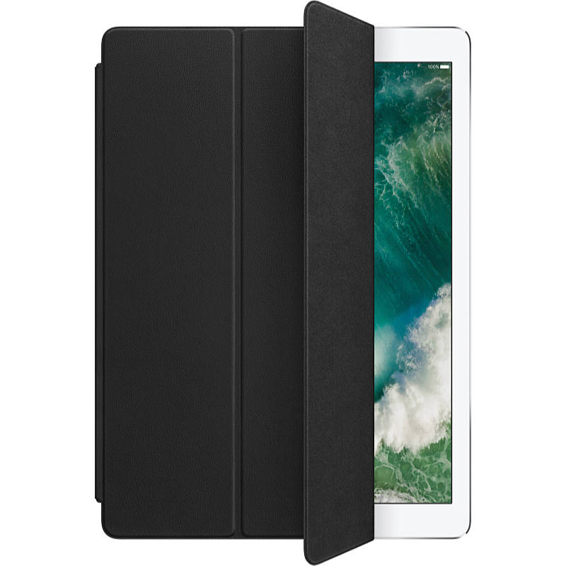 Apple - Táska (Bag) - Apple iPad 12,9' Leather Smart Cover 2017 táblagép tok, fekete